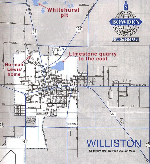 Williston Florida Map.The Williston Case