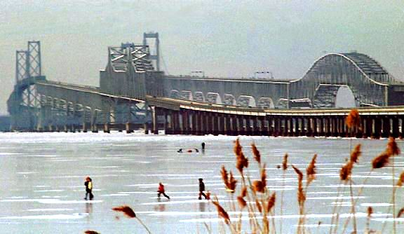 Chesapeake Bay Bridge. The Chesapeake Bay Bridge,